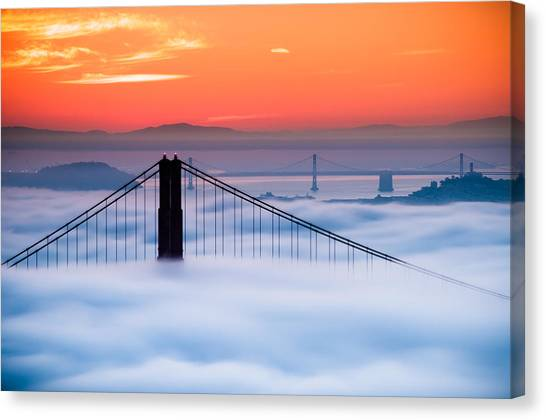 Bay Sunrise Canvas Print