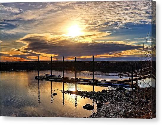 Bay Sunset Canvas Print