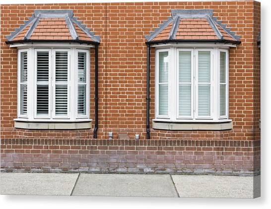 Window Canvas Print - Bay Windows by Tom Gowanlock