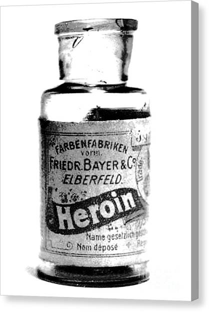 Bayer Company Sells Heroin Around 1900 Canvas Print