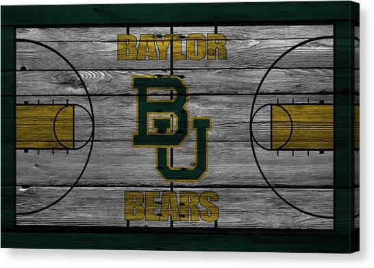 Ball State University Canvas Print - Baylor Bears by Joe Hamilton