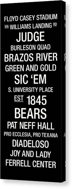 Baylor University Canvas Print - Baylor College Town Wall Art by Replay Photos