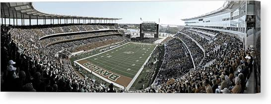 Quarterbacks Canvas Print - Baylor Gameday No 4 by Stephen Stookey
