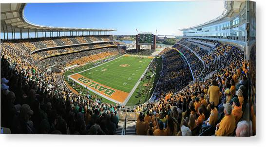 Quarterbacks Canvas Print - Baylor Gameday No 5 by Stephen Stookey