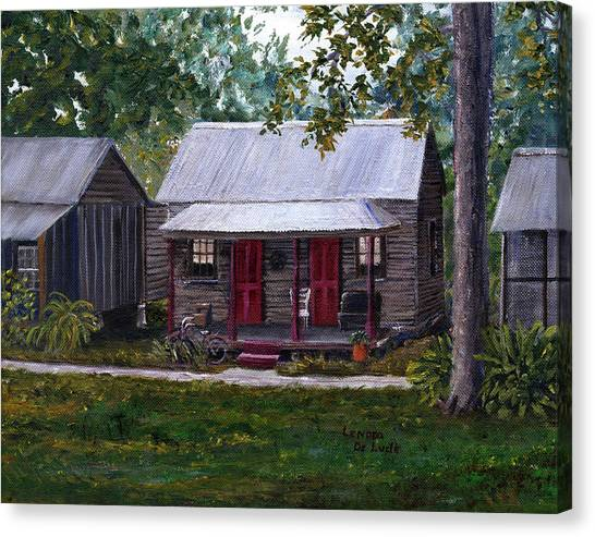 Bayou Cabins Art Breaux Bridge Louisiana Canvas Print