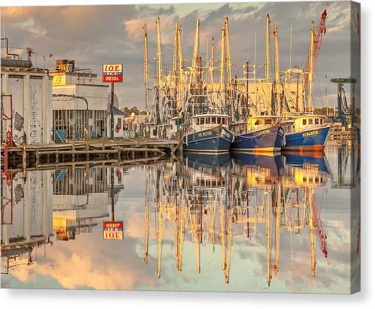Bayou La Batre' Al Shrimp Boat Reflections 39 Canvas Print