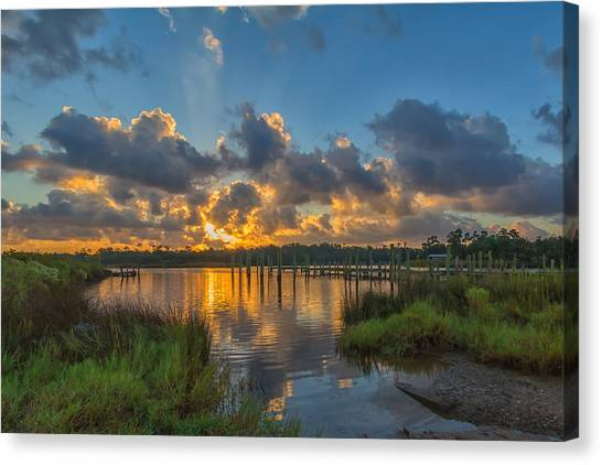 Bayou Sunrise Canvas Print