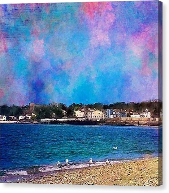 Robins Canvas Print - Bayville Beach .. I Took This Picture by Robin Mead