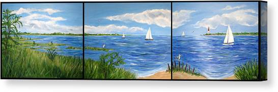 Bayville Trio Canvas Print