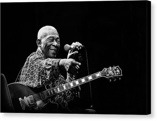 Microphones Canvas Print - Bb King by Alice Lorenzini