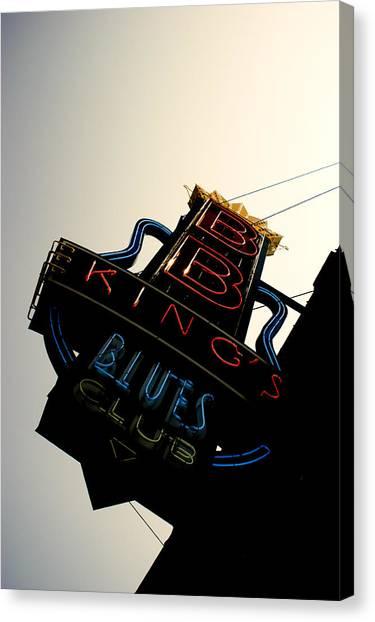 Bb King Blues Club Canvas Print