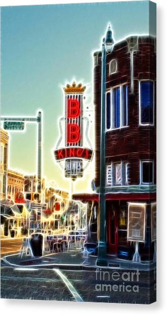 Bb King Club Canvas Print