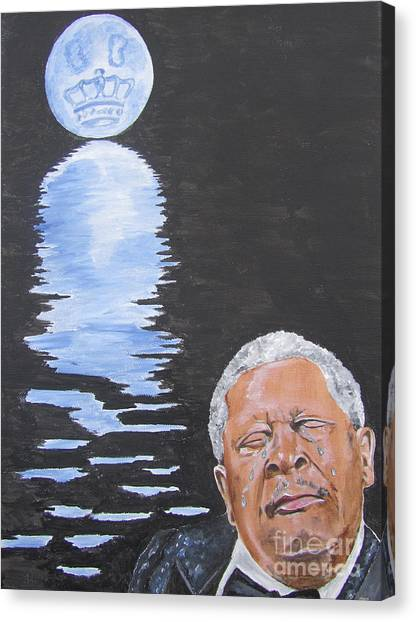 Bb King Painting Canvas Print