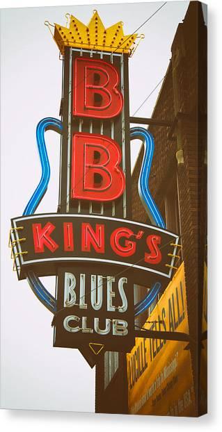 Bb King's Blues Club Canvas Print