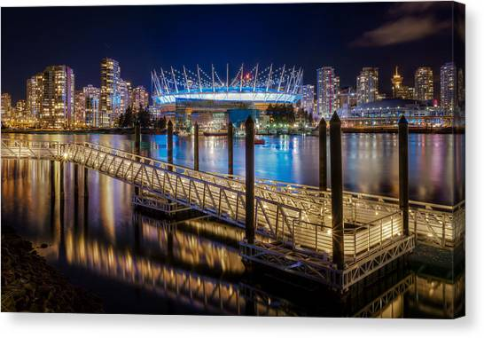 Vancouver Skyline Canvas Print - Bc Place by Alexis Birkill
