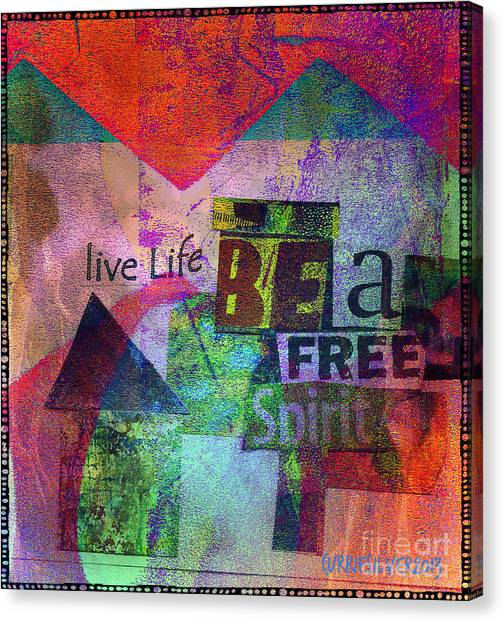 Be A Free Spirit Canvas Print by Currie Silver