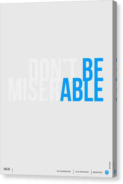 Quote Canvas Print - Be Able Poster by Naxart Studio