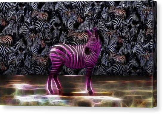Be Courageous - Be Different - Zebra Canvas Print