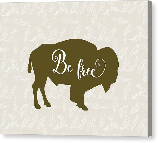 Bison Canvas Print - Be Free by Tara Moss