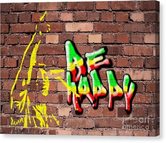 Be Happy2 Canvas Print