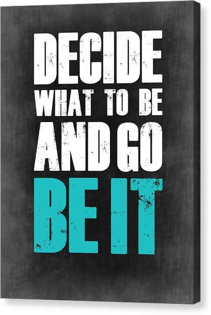 Hips Canvas Print - Be It Poster Grey by Naxart Studio