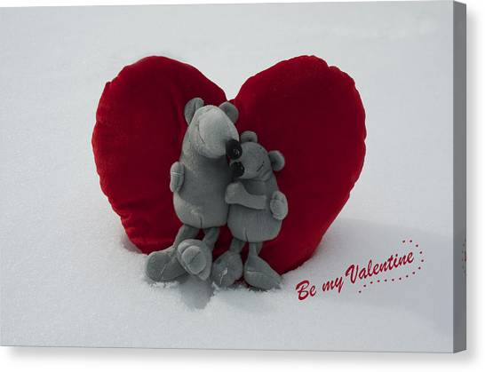 Be My Valentine  Canvas Print by Nicole Markmann Nelson