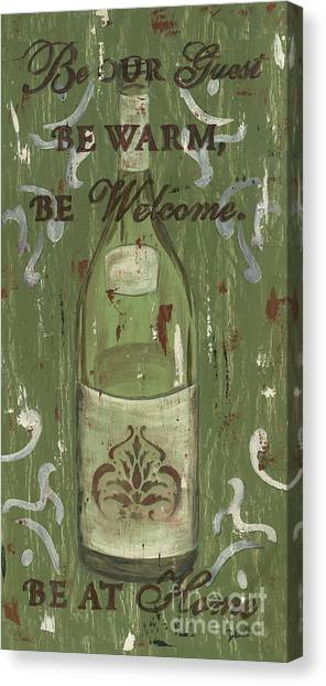 Winery Canvas Print - Be Our Guest by Debbie DeWitt