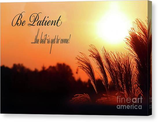Be Patient Canvas Print