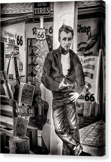 Dennis Hopper Canvas Print - Be Still My Heart by Diane Wood