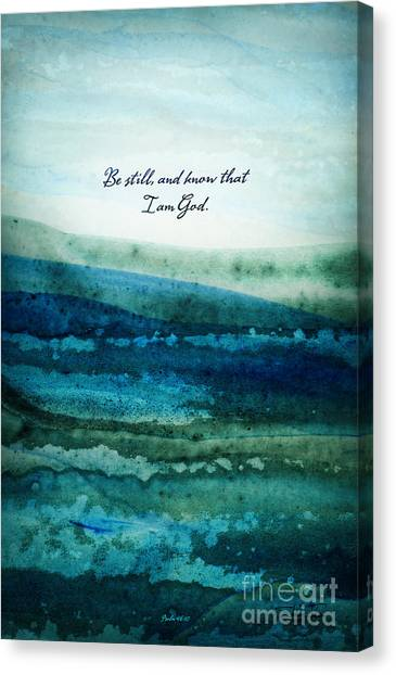 Canvas Print featuring the painting Be Still by Shevon Johnson