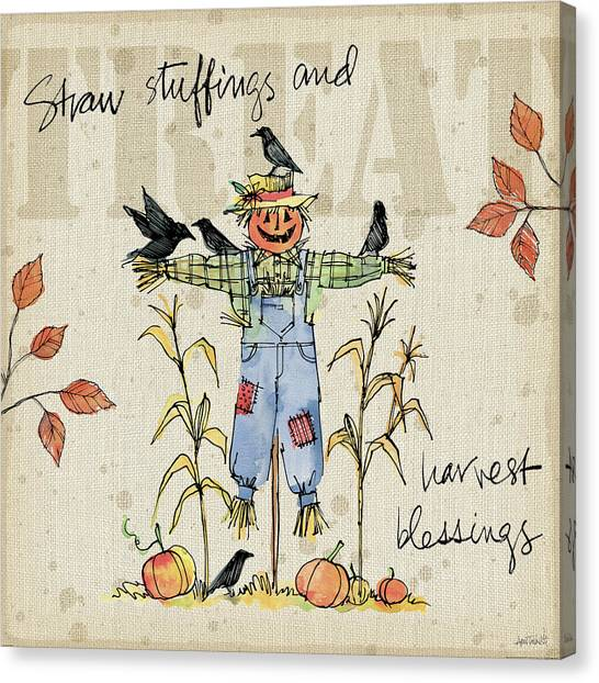Stuffing Canvas Print - Be Thankful I by Anne Tavoletti