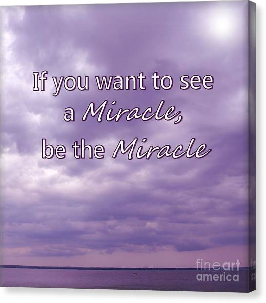 Jim Carrey Canvas Print - Be The Miracle by Tammie Miller