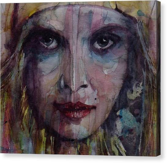 Face Canvas Print - Be Young Be Foolish Be Happy by Paul Lovering