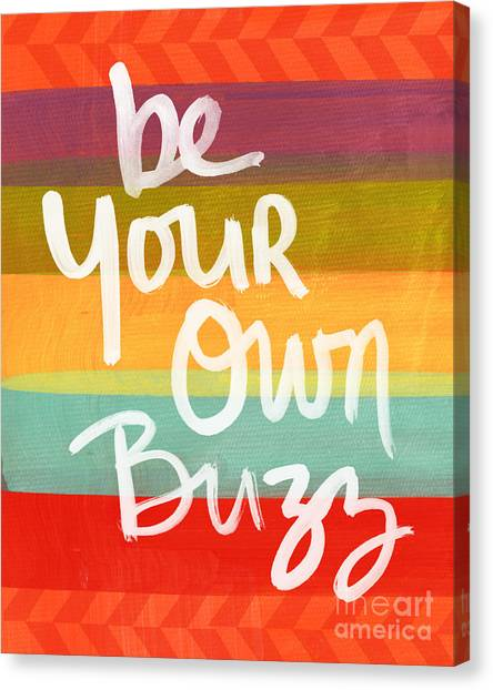 Lounge Canvas Print - Be Your Own Buzz by Linda Woods