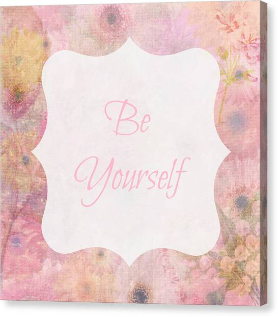 Be Yourself Daisies Canvas Print