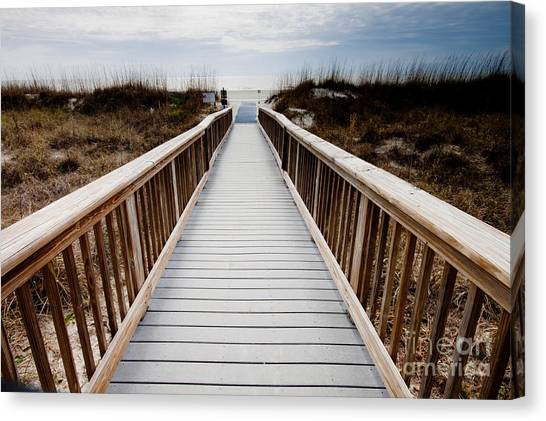 Beach Access Hilton Head Canvas Print