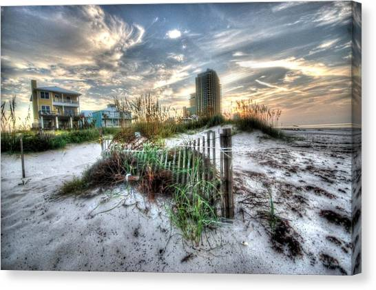 Beach And Buildings Canvas Print