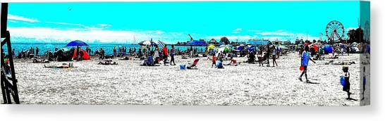 Beach And Carnival Canvas Print