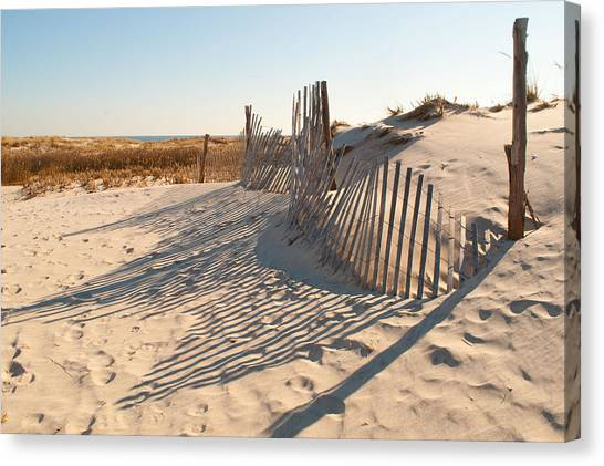 Beach At Lbi Canvas Print