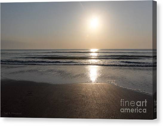 Beach At Sunrise Canvas Print