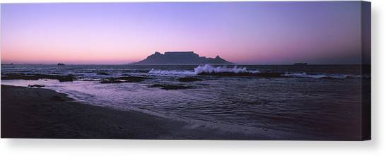 Table Mountain Canvas Print - Beach At Sunset, Blouberg Beach, Cape by Panoramic Images