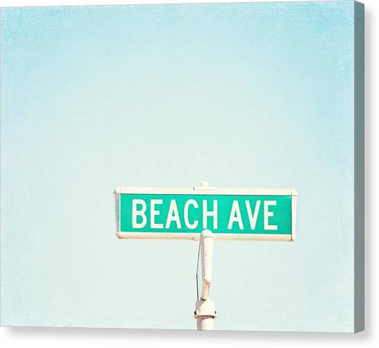 House Canvas Print - Beach Ave. by Carolyn Cochrane