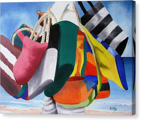 Beach Bag Vendor Canvas Print