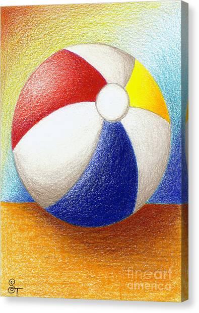 Fun Beach Canvas Print - Beach Ball by Stephanie Troxell