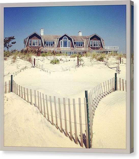 Back Canvas Print - #beach #beaches #southhampton #hamptons by Miguel Grullon