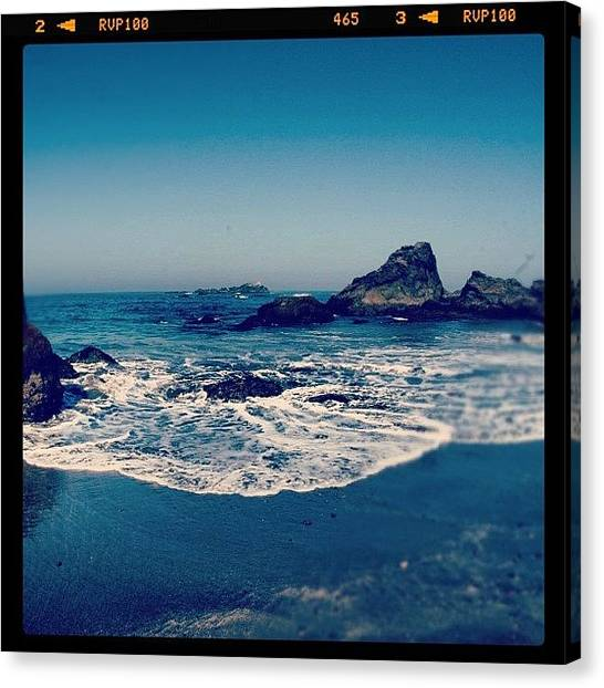 Sunny Canvas Print - #beach #beautiful #water #waves #nature by Jill Battaglia