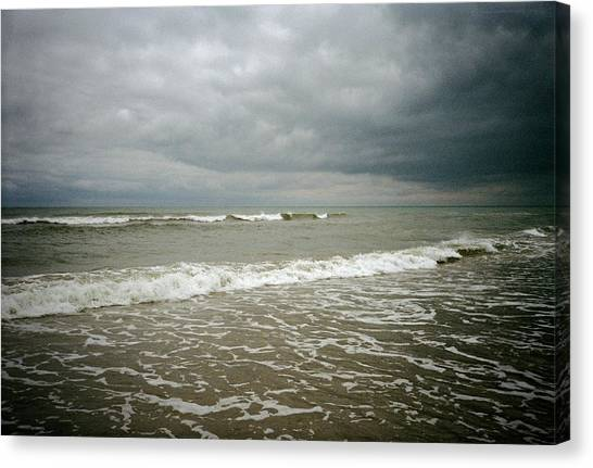 Beach Before The Storm Canvas Print