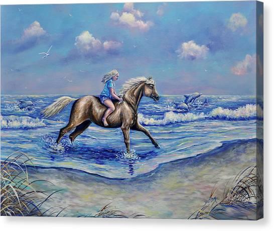 Beach Blonde Running Mates Canvas Print