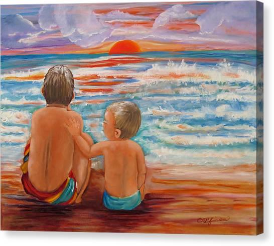 Beach Buddies II Canvas Print