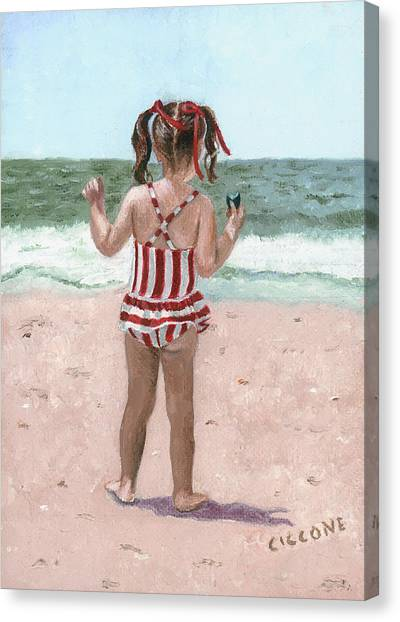 Beach Buns Canvas Print